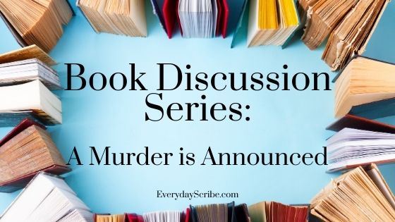 Books surrounding the text: Book Discussion Series: A Murder is Announced