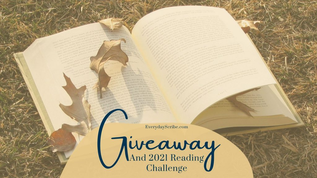 Image with a book that says: Giveaway and 2021 Reading Challenge