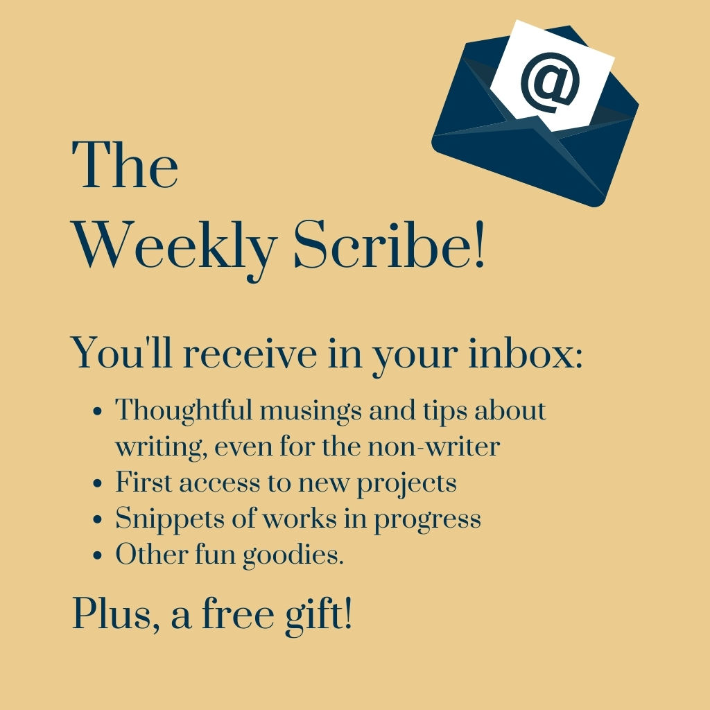 Sign up for The Weekly Scribe